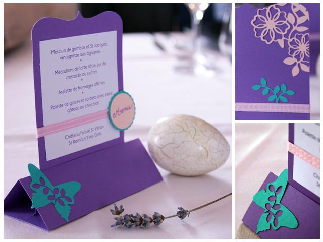 самодельное меню в технике скрапбукинга на 46-ю годовщину свадьбы